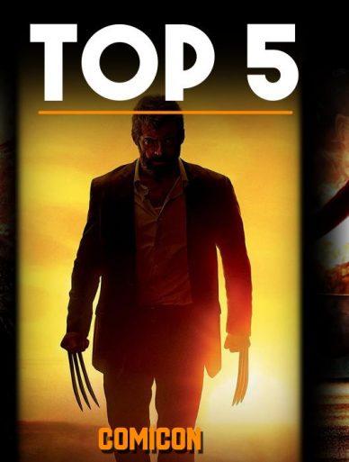 top 5 comic base movies