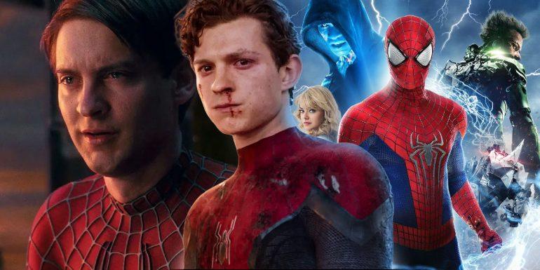 spiderman-tom-holland-Amazing-spiderman-2-Tobey-Maguire-