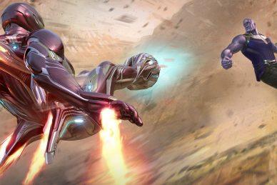 iron man vs thanos